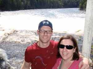 James and Beka at Big Falls
