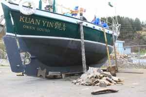 Kuan Yin-Newfoundland-sailing-Dennison Berwick-firewood