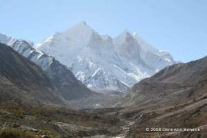 Himalayan peaks at the source of the river Ganges