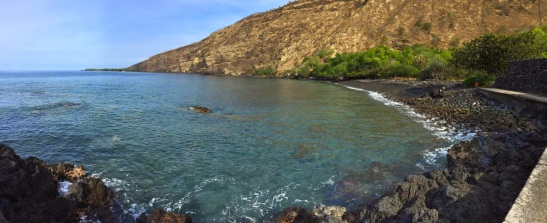 Kealakekua Bay, Hawaii, now a marine life conservation district and famous for amazing coral, said to be among the best in the islands
