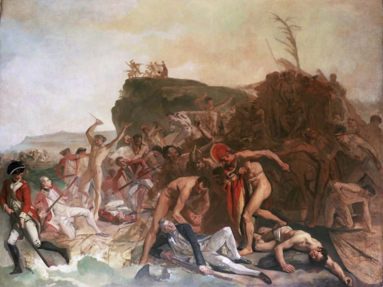 Death of Captain Cook, by Johann Zoffany, 1795