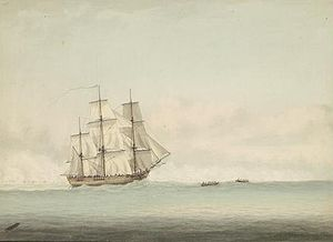 Endeavour_off_New_Holland,_by_Samuel_Atkins_c.1794