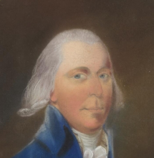 Detail of Surgeon Munkhouse from a portrait of him in the National Library of Australia