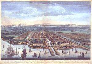 Batavia, capital of dutch East Indies, in late 18th century